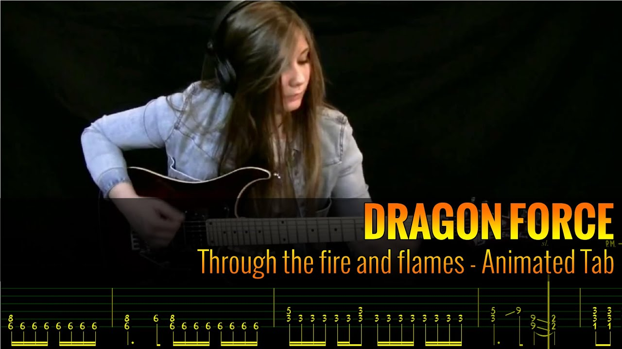 through the fire and flames tab pdf