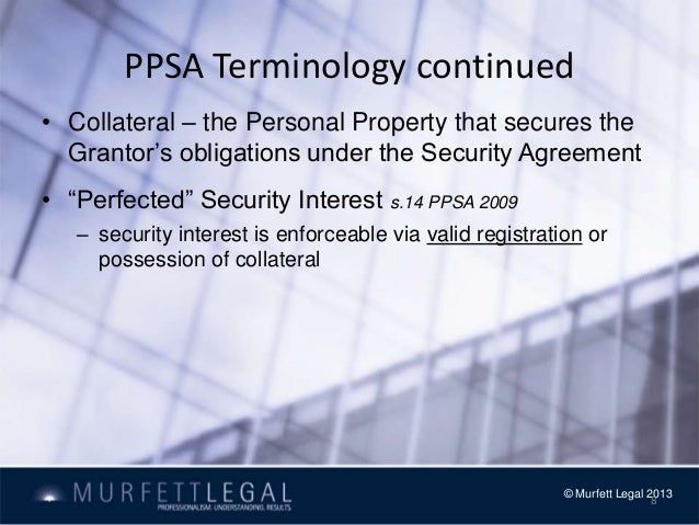 personal property securities act 2009 pdf