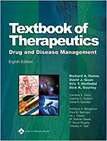 textbook of therapeutics drug and disease management pdf free download