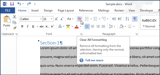 how to remove formatting from pdf document