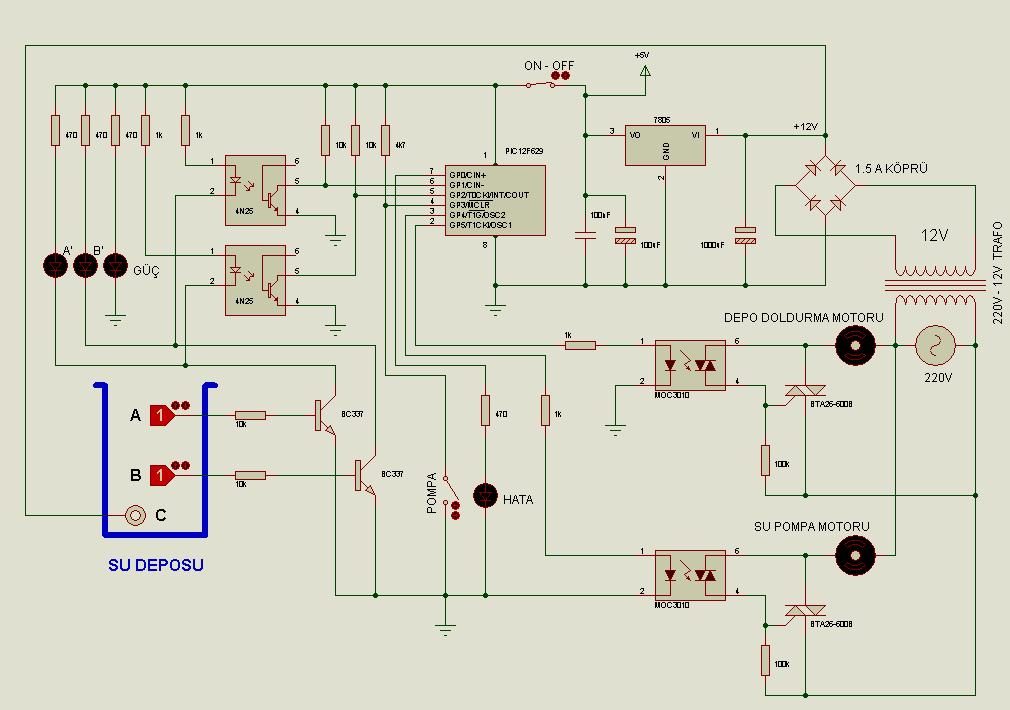 water level controller circuit diagram pdf