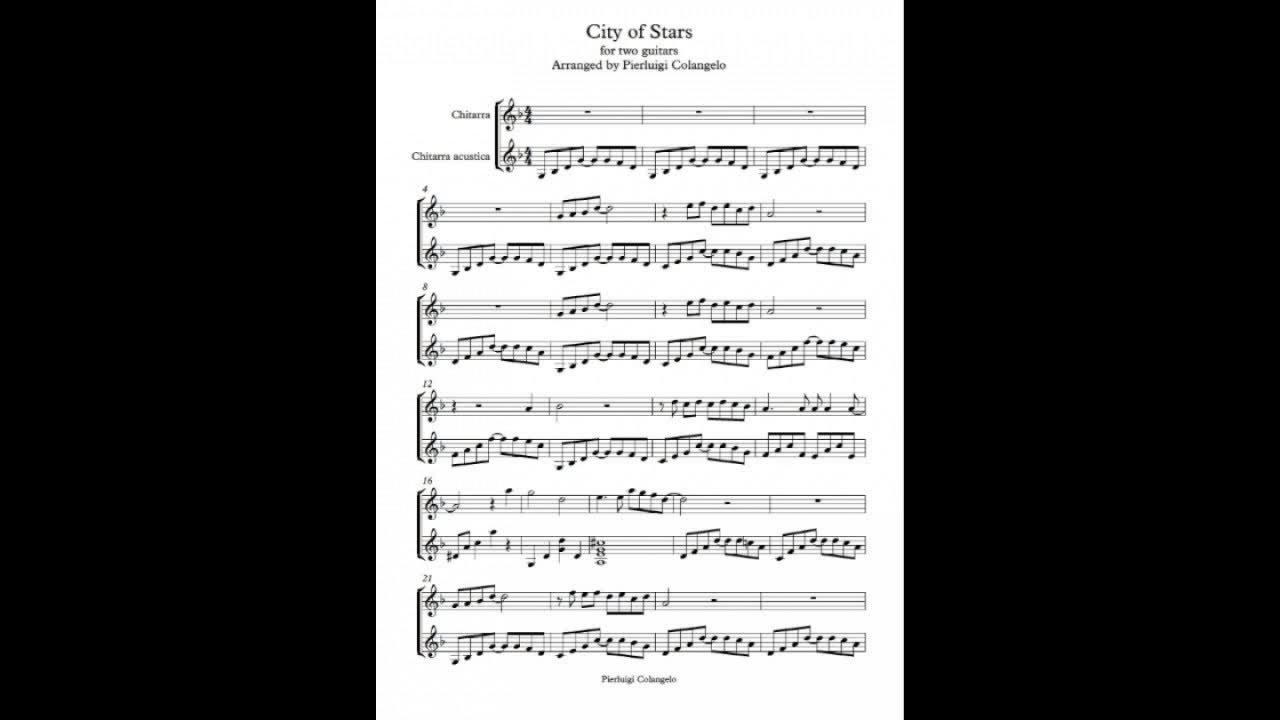 city of stars guitar sheet music pdf