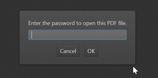 remove known password from pdf