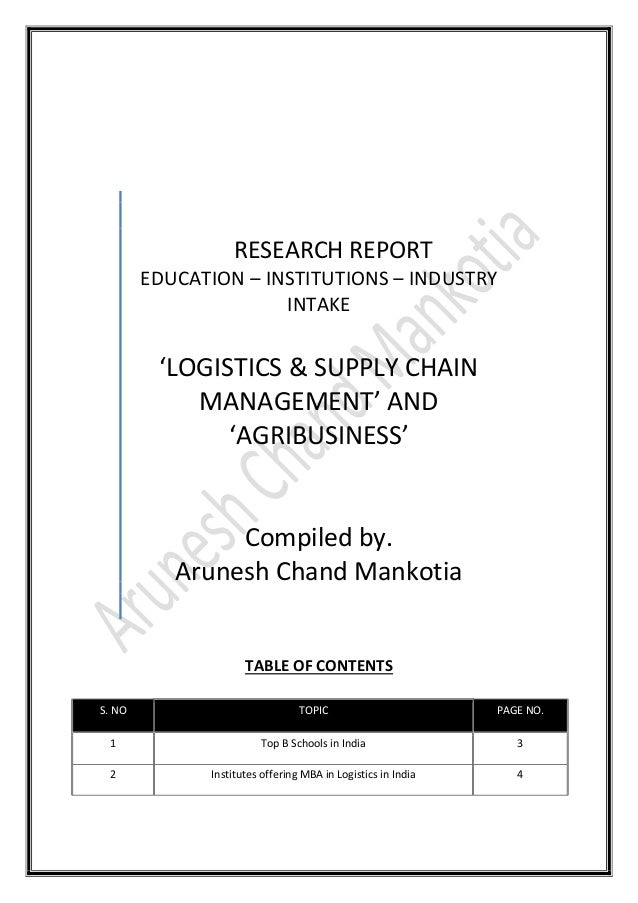 agribusiness supply chain management pdf