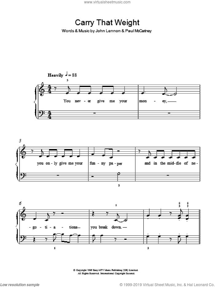 beatles easy piano sheet music pdf