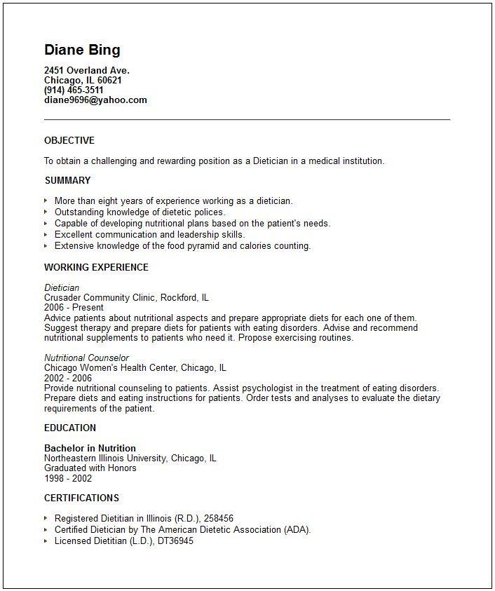 clinical dietitian job description pdf