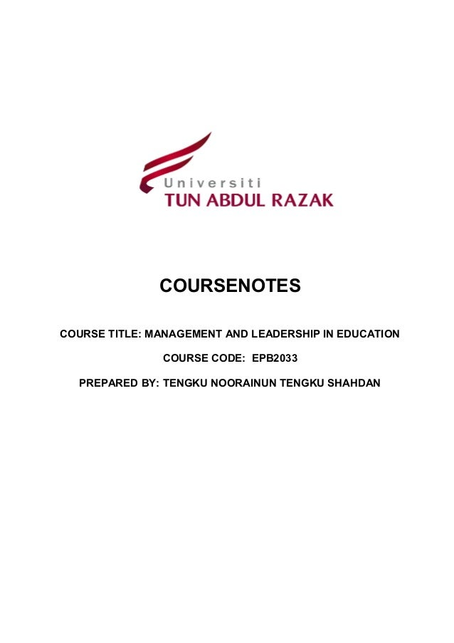 leadership and management pdf chapters 1 and 2