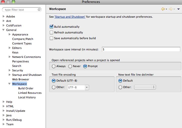 how to set the pdf settings