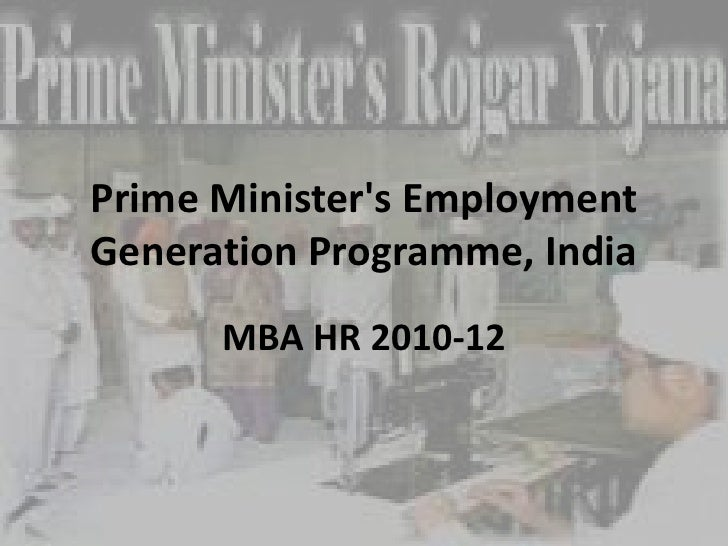 prime minister employment generation programme pdf
