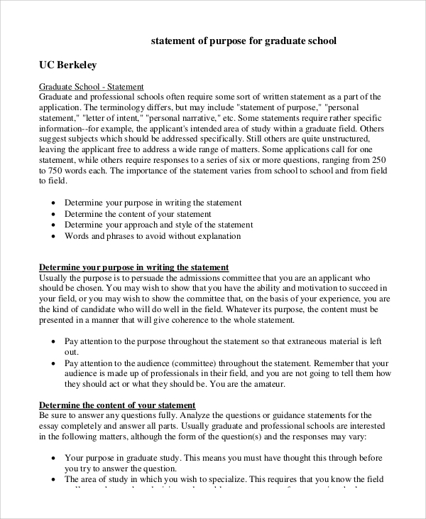 statement of purpose graduate school sample pdf