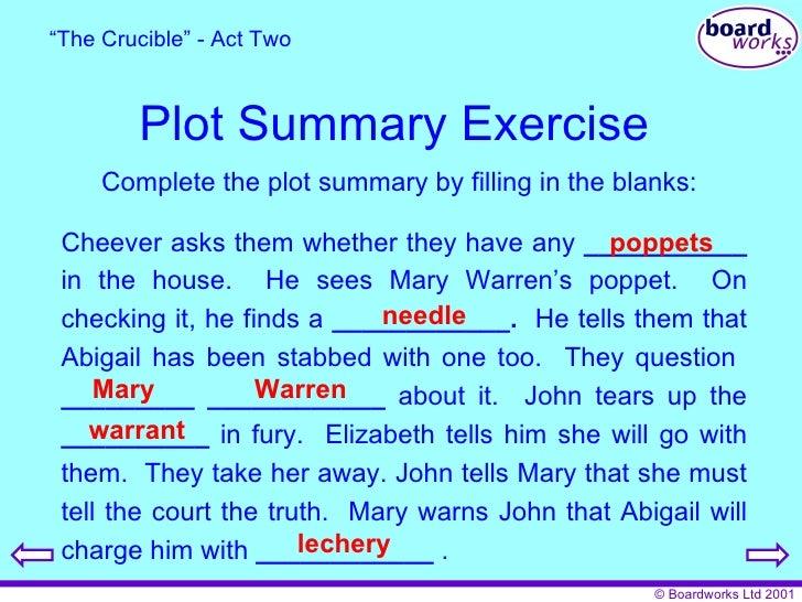 the crucible act 1 summary pdf