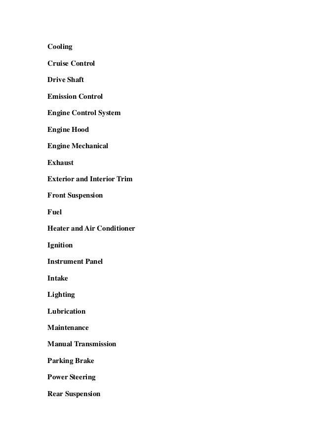 toyota camry service manual pdf